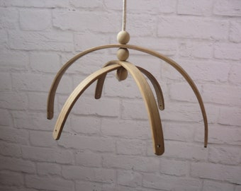 Wooden mobile hanger nursery decor mobile crib base DIY Natural Wooden Mobile Hanger Nursery Mobile Baby mobile  Kit Frame Crib Mobile Arm