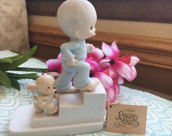 """Precious Moments Figurine """"Let not he sun go down on your wrath""""  1980"""