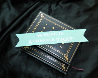 Where is Ashmole 782? DoW All Souls Trilogy Inspired Bookmark in Teal Sparkle