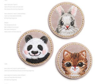 1 x pet fusible badge embroidered Decoration applied to iron