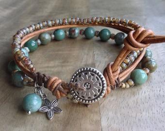 Dragon blood bohemian bracelet boho chic bracelet gypsy womens jewelry gift for her boho bracelet beaded gemstone bracelet