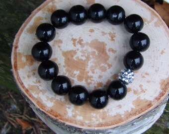 N1203 Black Ceramic Beaded Bracelet