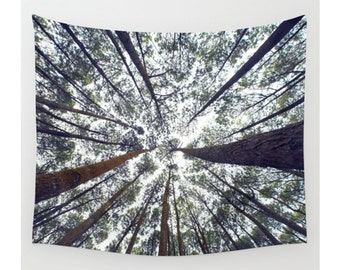 Tree Tapestry, Forest Tapestry, Tapestry Wall Hanging, Nature Tapestry, Extra Large Wall Art, Modern Tapestry, Photo Tapestry