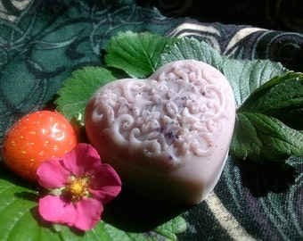 Sun Kissed Strawberry Glycerin Soap - Vegan -
