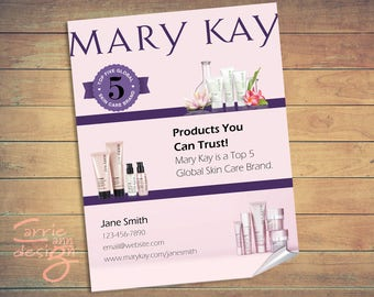 Mary Kay Top 5 Global Skin Care Brand, flyer, brochure, print, download
