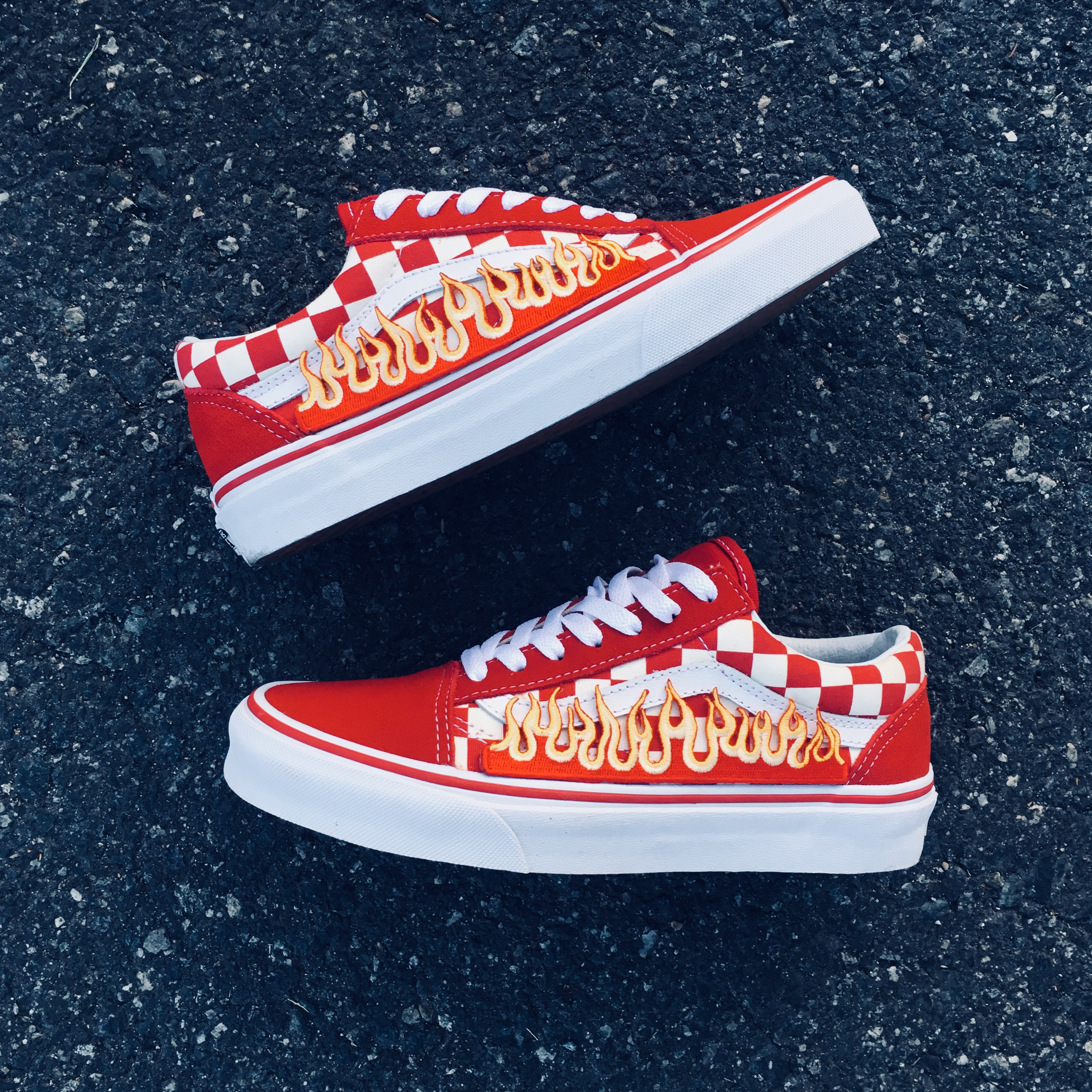 red checkered vans high tops