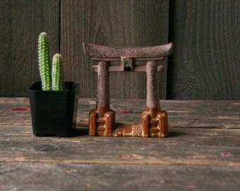Miniature Asian Gate Ceramic Miniature Garden Piece Vintage From Nowvintage on Etsy