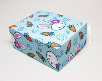 Easter Bunny Printable Gift Wrapping Paper or Book Cover PDF DIY Paper Craft,  24 x 36 inches - P003