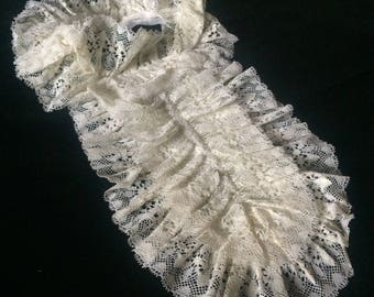 Vintage Lace Bib Collar Victorian Style