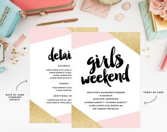 Girls Weekend Invitation