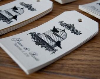 10x Personalised Love Bird Wishing Tree Tags