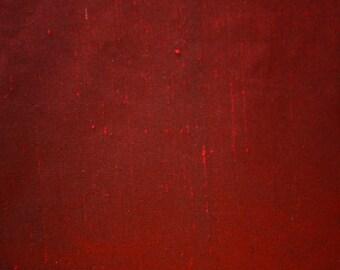 "Burgundy Hand Woven Dupioni Raw Silk Multipurpose Drapery Fabric 55"" Wide Per Yard"