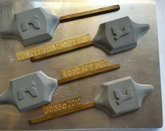 Dreidle lollies w/ Hebrew lettering Chocolate Candy Mold J038 Jewish Molds
