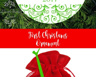 Our First Christmas As Mr & Mrs Christmas Ornament | Wedding Christmas Ornament | Wedding Gift for Couples