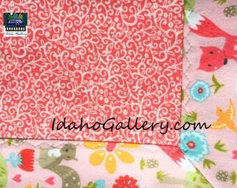 Baby Blanket Gift for Baby Security Blanket Receiving Blanket Shower Gift Baby Girl Cotton Flannel Swaddling Blanket Infant Girl
