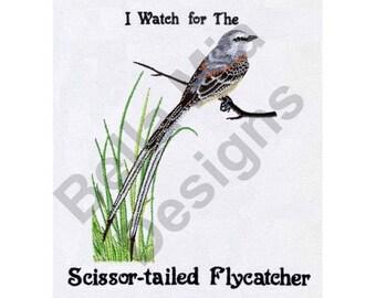 Bird - Machine Embroidery Design, Scissor-Tailed Flycatcher