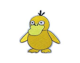 Psyduck Patch Pokemon Patch Cartoon Game Patch Iron on Patch Sew On Patches