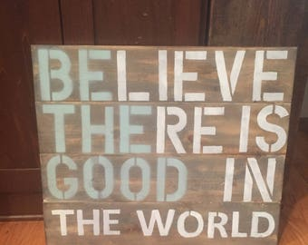 Be the good sign