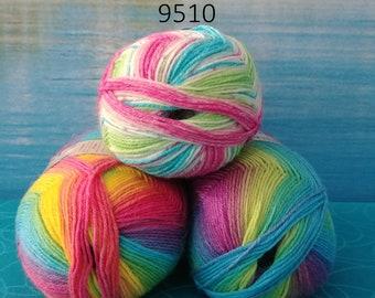 Opal Surprise Leckerbissen & Colors in Love sock yarn 4061  3.5 oz / 4 ply