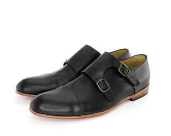 Monk Vagabundo Shoes in Black