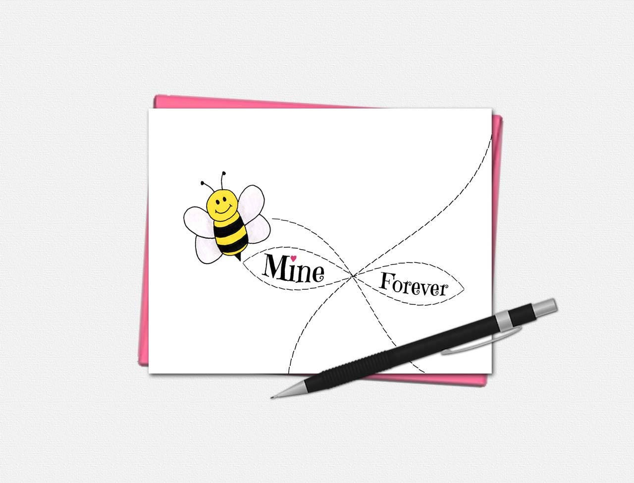 Bee Mine Forever Valentine's Day Card