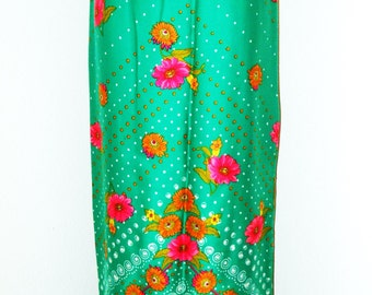 Vintage 1960s Long Vibrantly Colored Skirt