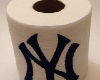 New York Yankees TOILET PAPER -- Embroidered Toilet Paper, great for a conversation piece in your bathroom.
