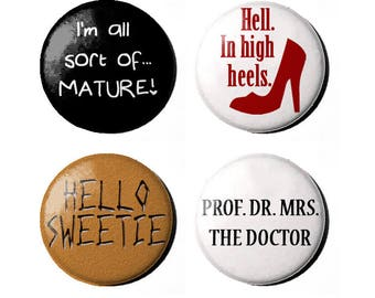 """Doctor Who River Song 1"""" Badges"""