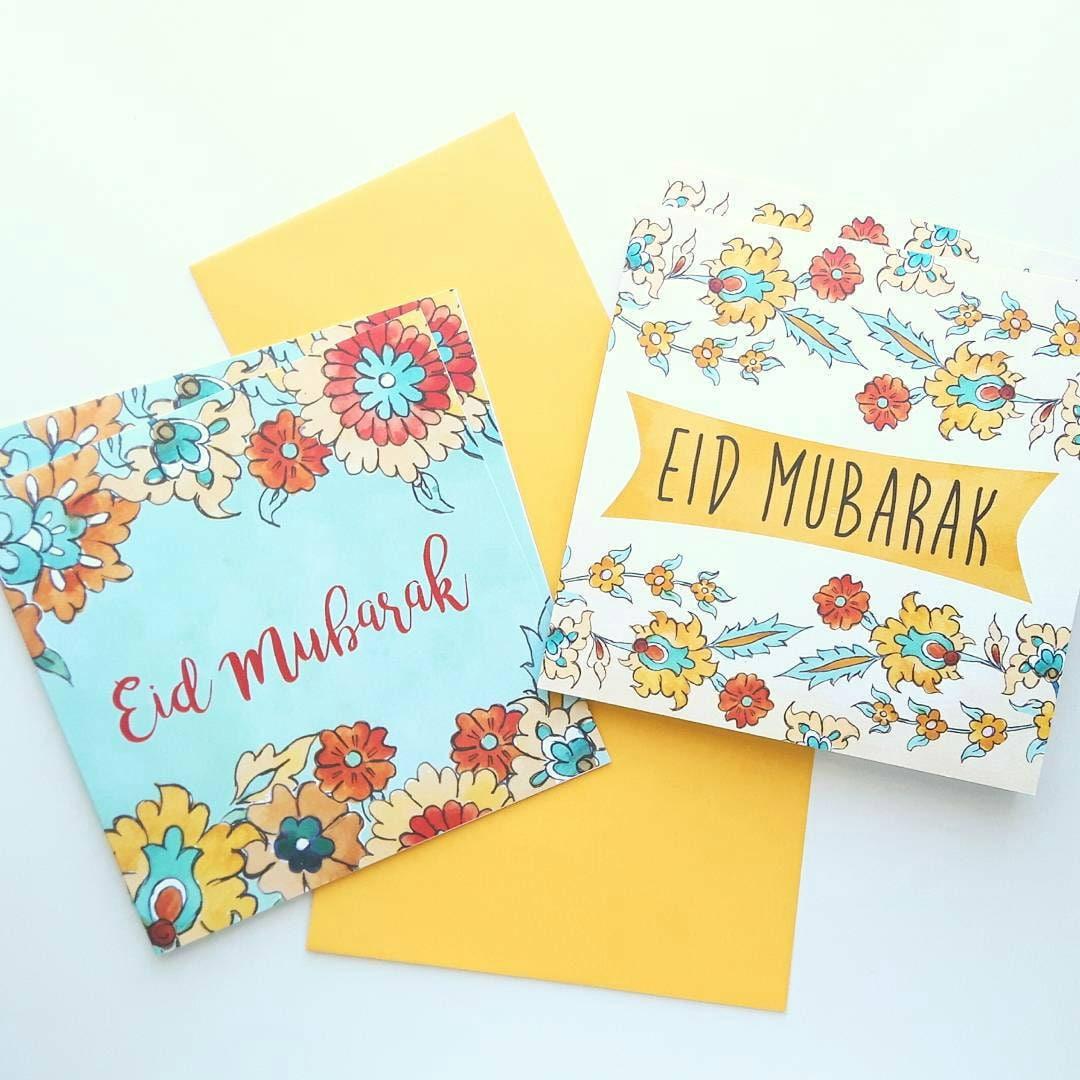 Set of 4 eid mubarak cards islamic greeting cards islamic zoom kristyandbryce Image collections