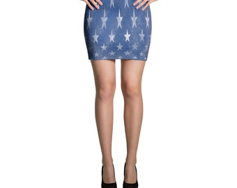 Mini Skirt USA Flag skirt American Flag Skirt