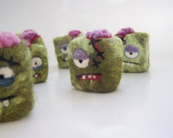 Felted Zombie soap -12 zombies