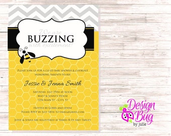 Buzzing with Excitement Baby Shower Invite
