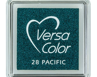 VersaColor ink pad, pacific, small ink pad, darkblue ink pad, pigment ink pad, DIY, gift for crafters, craft supplies, rubber stamp ink pad
