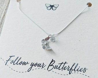 Silver Butterfly Necklace// Personalised// Follow your Butterflies// Butterfly Necklace// Sterling Silver