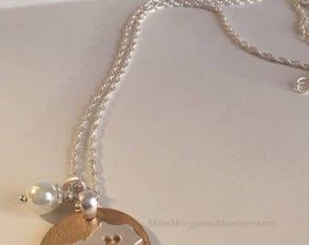 Kentucky, Gold, Silver, Pearl, Necklace,