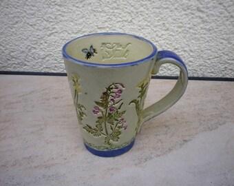 Tasse à thé café de série «Aquarelle», céramique