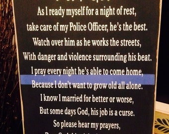 Correction prayer etsy primitive blue line police officers wife prayer law enforcement le cop altavistaventures Image collections