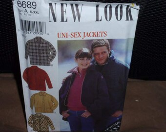 New Look 6689 Mens and Womens Jacket Sewing Pattern - Size S- XXL       New - Uncut