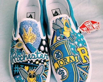 University of Rochester Custom Sneakers