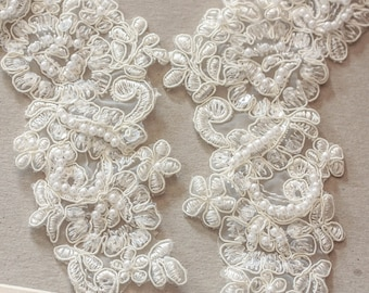 Ivory Bridal Lace applique - Appset- 11