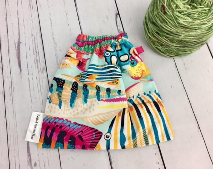 Tropical Fish , Yarn Ball bag, Yarn Bowl, Yarn Holder, Yarn Cozy