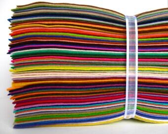 Wool Felt Assortment, 6x8 inch sheets, 117 colors, Merino Wool Felt, Waldorf Crafting, DIY Craft Supply, Toy Making Supply, Felt Flowers
