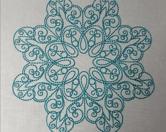 "Embroidery File ""Snowflake"" (Hoop 5"" x 7"")"