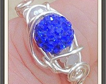 Ring Handmade by MWL Blue and Silver