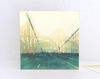 Foggy Bridge, Edinburgh, Scotland - Greeting Card