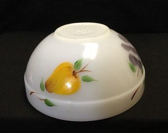 Vintage Fire King Fruit Bowl, Milk Glass, Retro Kitchen