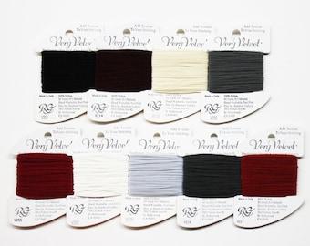 Very Velvet Yarn 3.25 Each, Rainbow Gallery Very Velvet Thread, Needlework Yarns, Needlework Threads, Needlepoint Yarns, Velvet Threads