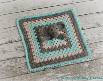 Elephant Lovey, Elephant Security Blanket, Blankie, MADE TO ORDER