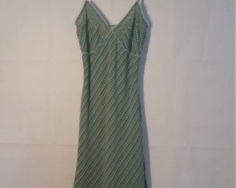 80's Guess Jeans Authentic 100% Silk Dress Green Size 3 , Authentic Guess Jeans Dress Green