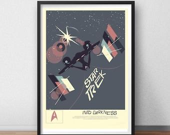 Star Trek Into Darkness Art USS Enterprise Vengeance Captain Spock Kirk Movie Film Space Minimal Minimalist Alternative Poster Print Graphic